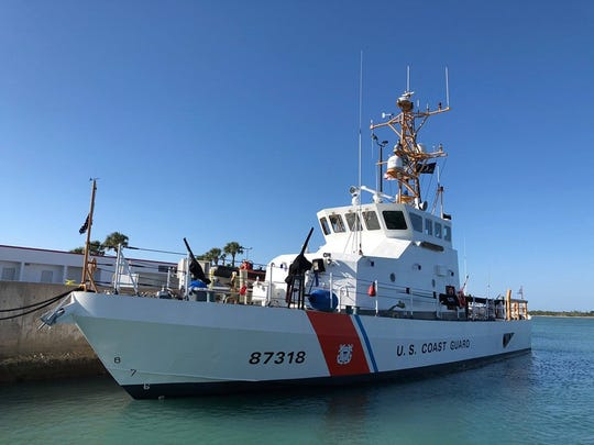 A U. S. Coast Guard vessel in  Fort Pierce.