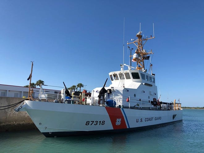 A U. S. Coast Guard vessel in  Fort Pierce.