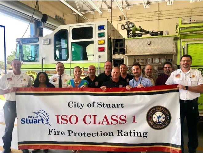City of Stuart Fire Rescue Department receives a class one Insurance Services Office rating.