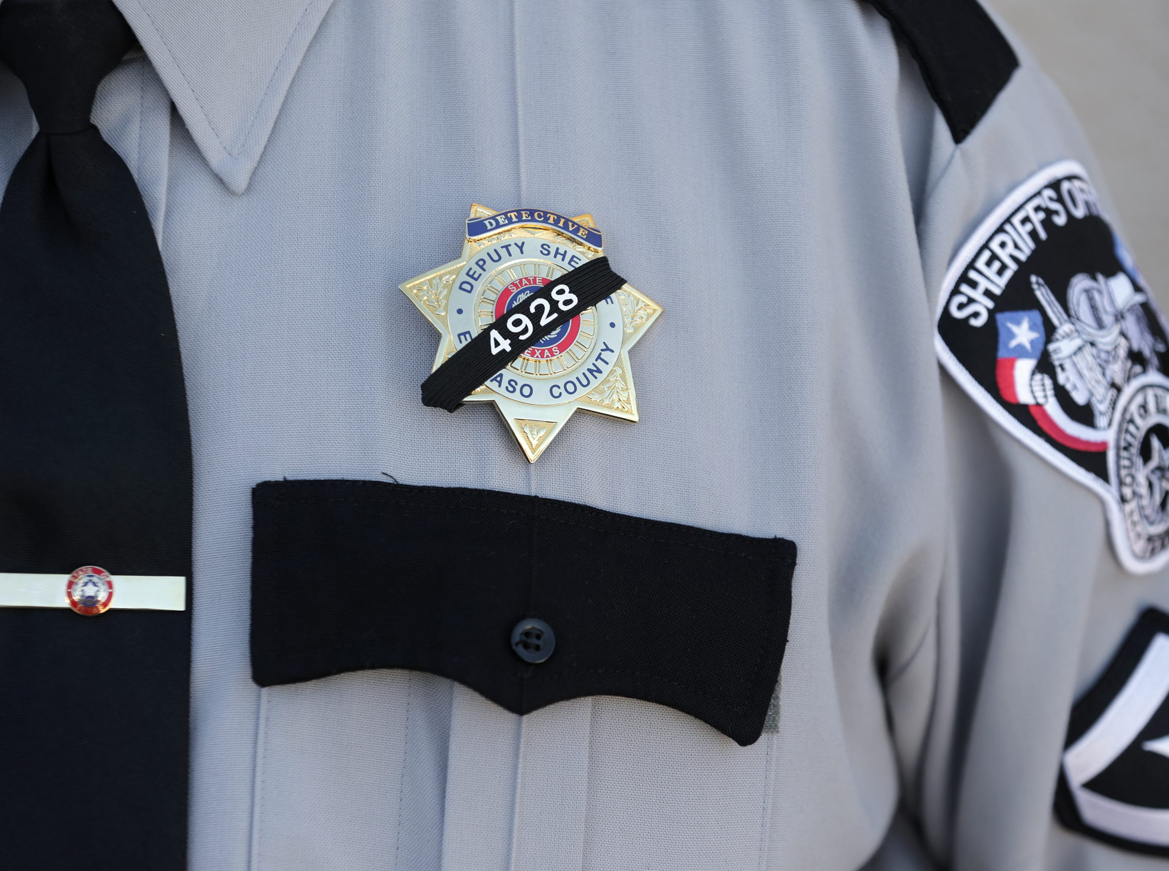 The El Paso County Sheriff's Office held its annual memorial Tuesday, May 14, 2019, at its headquarters in east El Paso. Deputy Peter Herrera's name was added to the County Law Enforcement Memorial this year after he was shot and killed during a traffic stop in San Elizario.