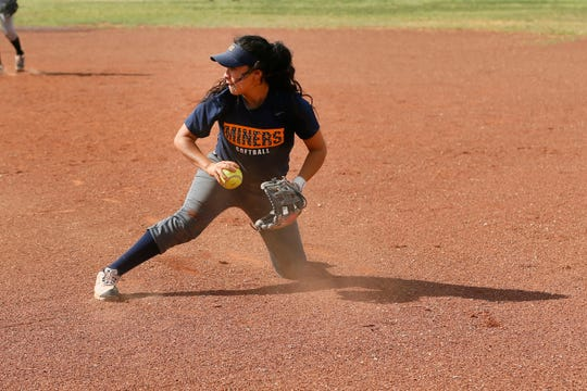 Chapin's Lexi Morales fields the ball during practice Monday, May 13, at the softball field at Chapin High School.