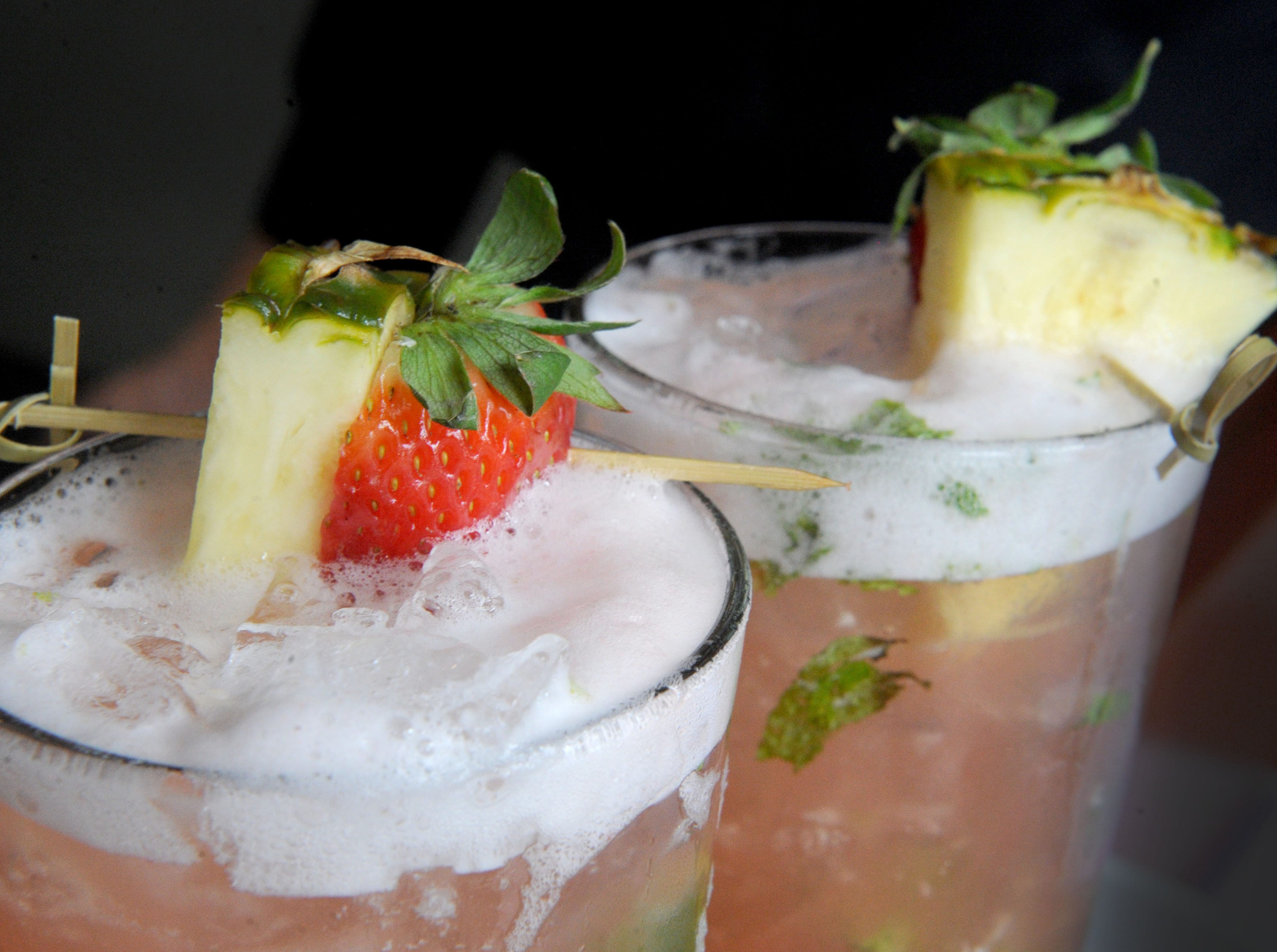 Agua fresca, the day's special non-alcoholic beverage at Slate Bistro & Craft Bar in Camarillo features a blend of rhubarb and pineapple.