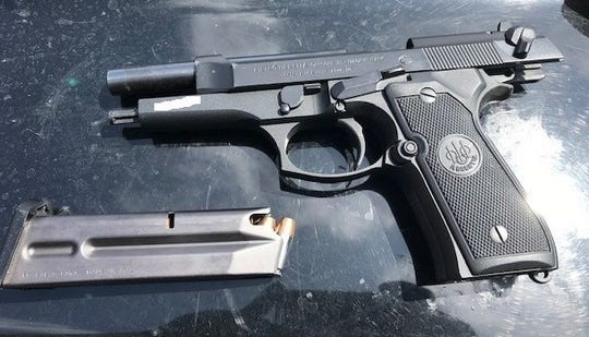 Ventura County Sheriff's Office detectives believe Manuel Hill dropped this stolen gun when authorities approached him in Camarillo.