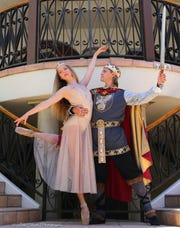 """Jonathan Sharp plays King Arthur and Luna Hoetzel Queen Guinevere in Pacific Festival Ballet's production of """"Camelot"""" playing May 18 at the Thousand Oaks Civic Arts Plaza."""