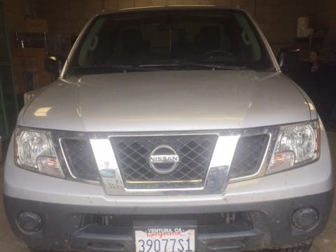 Ventura County Sheriff's authorities believe this silver Nissan Frontier truck was used to transport the body of a murder victim from Meiners Oaks on May 12.