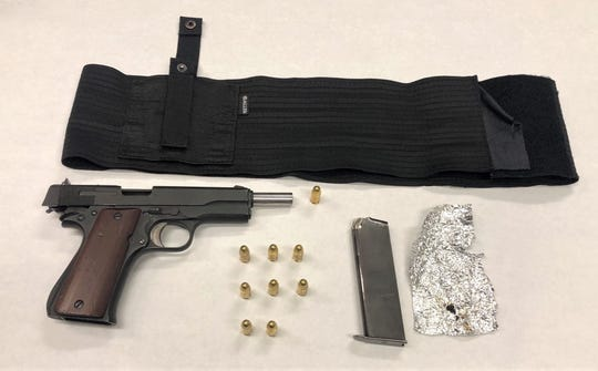 These items were found in possession of Jose Salazar when he was stopped while riding a bicycle without a light in Oxnard,  police said.