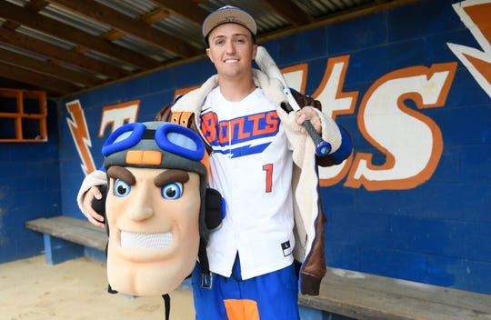 Millville's Dom Buonadonna is a hard-throwing pitcher and outfielder for the Thunderbolts. He is involved with many school activities including being the school mascot, Maverick.