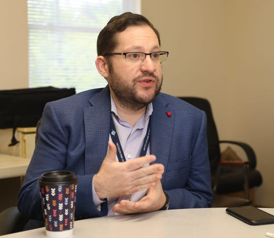 Joshua Hans, a captain with the Hatzoloh EMS, Inc of Rockland County, is pictured in their headquarters in Monsey, May 14, 2019.