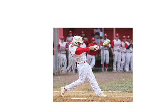 North Rockland's Jack Wren bats against Fox Lane during a 6-5 win at North Rockland High School on March 29, 2019.