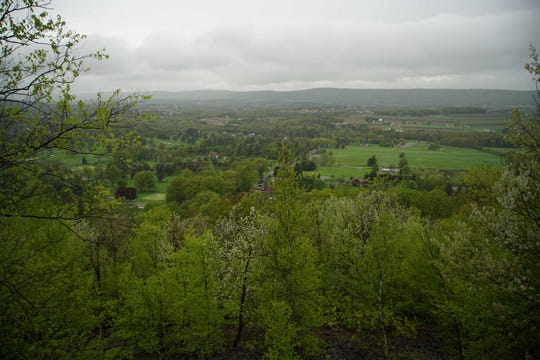 A view of homes and open land in Luzerne County, Pa.