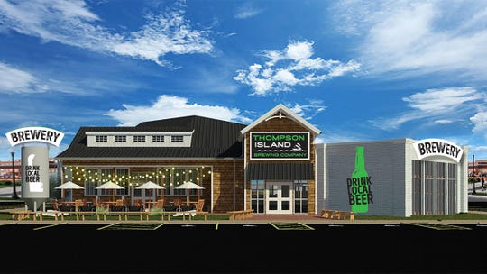 Thompson Island Brewing Co. is a new 250-seat brewpub being built next to Bluecoast restaurant in Rehoboth Beach. It could feature a scrapple hot dog topped with lobster on its menu.