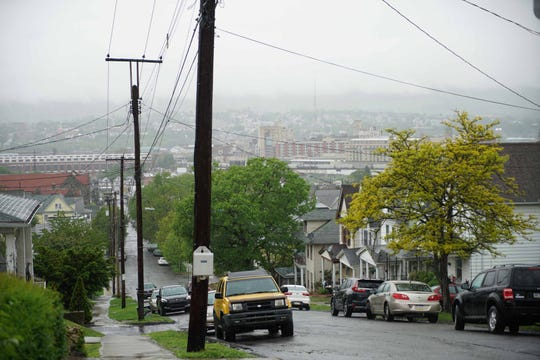 The city of Scranton can be seen from Moosic Rd.