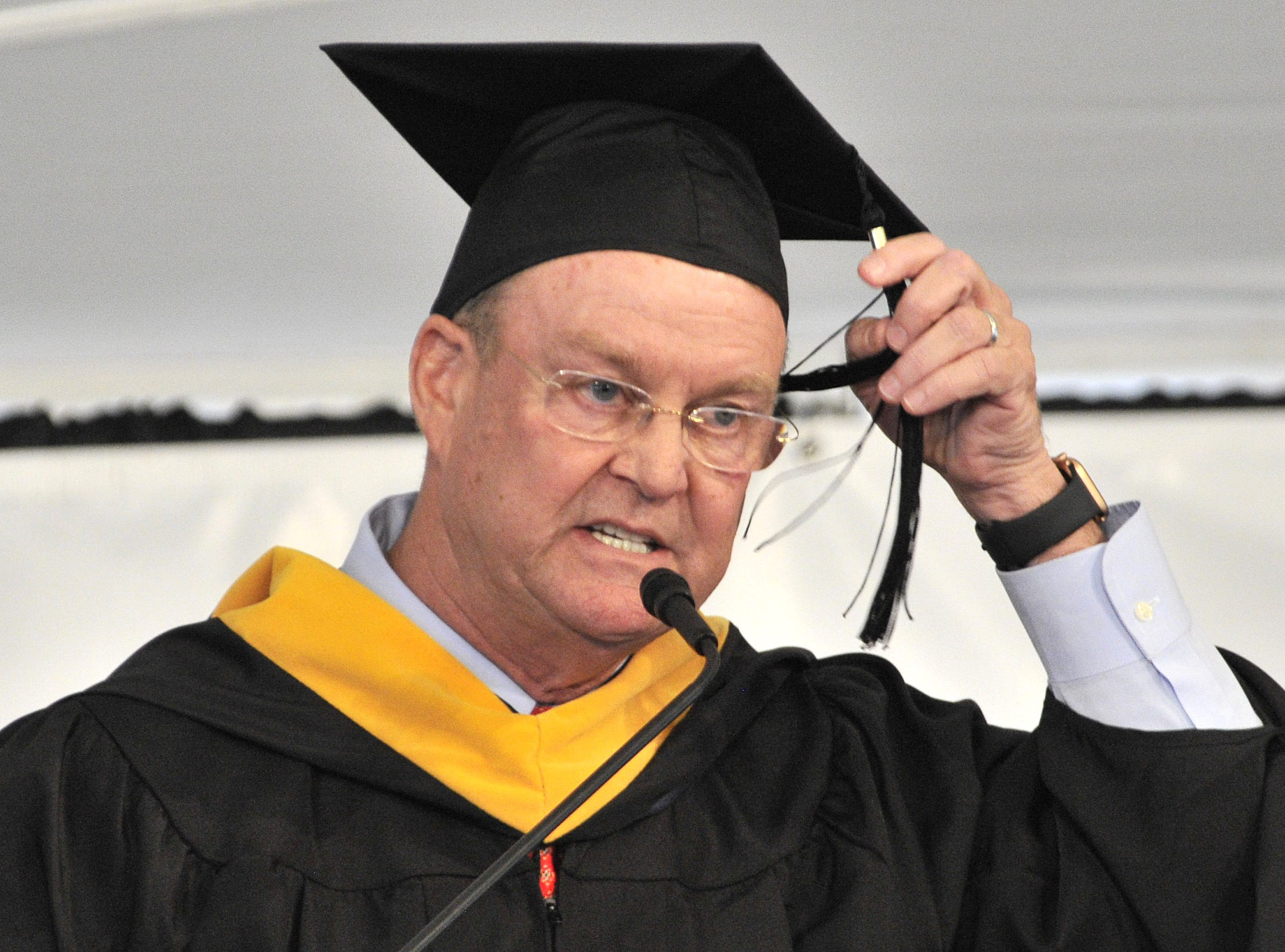 DelTech commencement speaker Terence M. Murphy, president and chief executive officer of Bayhealth, Inc.
