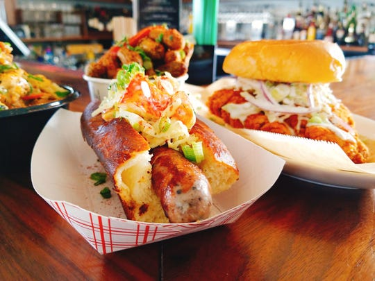 Scrapple dogs with lobster were such a hit recently at Dover International Speedway, the unique sandwiches are now being served for a limited time at Bluecoast restaurant in Rehoboth Beach.