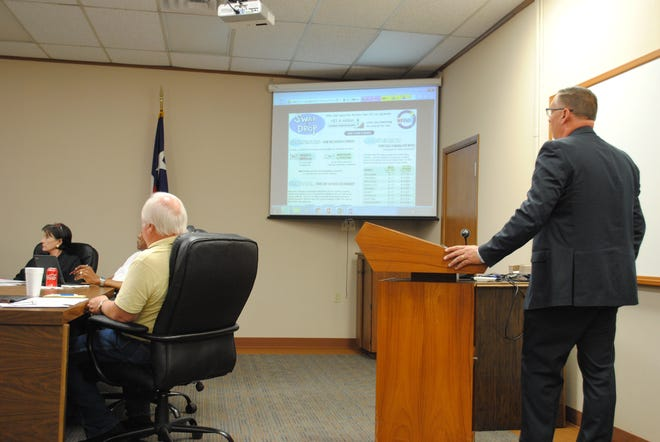 """In this file photo, WFISD Superintendent Michael Kuhrt speaks during a board meeting about a possible """"swap and drop"""" change to the district's tax rate. The change would allow the district to gain $1.4 million in additional revenue with a lower tax rate."""