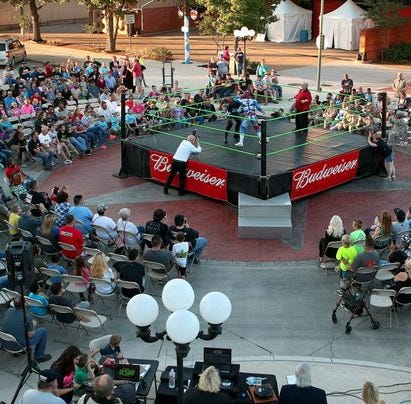 Wrestling Under the Stars part of 2019 Hall of Fame induction celebration