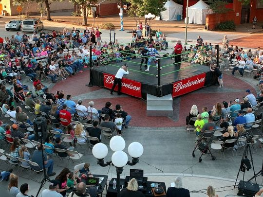 Wrestling Under the Stars is returning to the street at 6:30 p.m. tonight in front of the downtown Professional Wrestling Hall of Fame and Museum as part of the 2019 Professional Wrestling Hall of Fame Weekend.