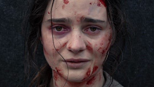 "Clare (Aisling Franciosi) is a 19th-century woman hellbent on vengeance in ""The Nightingale."""