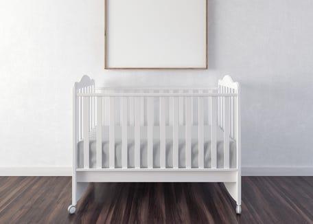 Basic baby crib.