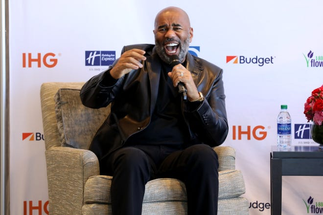 Steve Harvey hosts the Standup Spotlight contest. The Spotlight prize winner gets 4 days, 3 nights in Los Angeles where they'll meet and get advice from Harvey.
