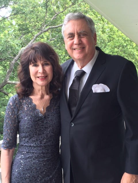 La Mesa, California patient safety advocate Marian Hollingsworth and husband Ed, are shown at their son's wedding before Ed got sepsis last summer. He was in an A-rated hospital that soon dropped to a B while he was there.