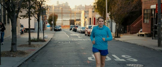 "Flailing box-office attendant Brittany (Jillian Bell) attempts to jump-start her life in dramedy ""Brittany Runs a Marathon."""