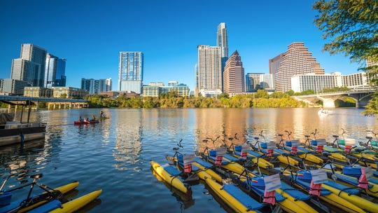 A view of the Austin, Texas, skyline. Residents of the state pay one of the highest property tax rates in the country.