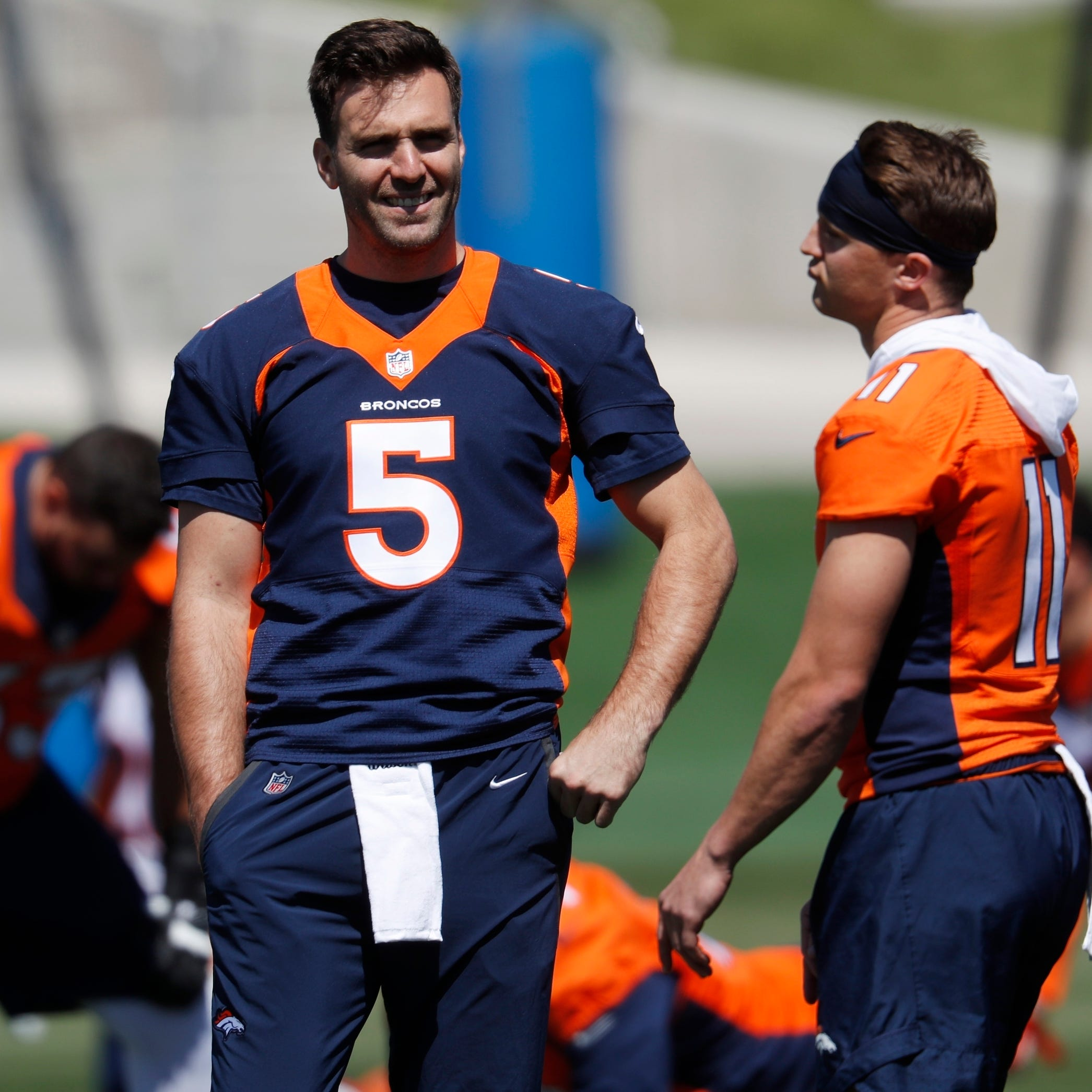 Joe Flacco says it's not his job to mentor rookie Broncos QB