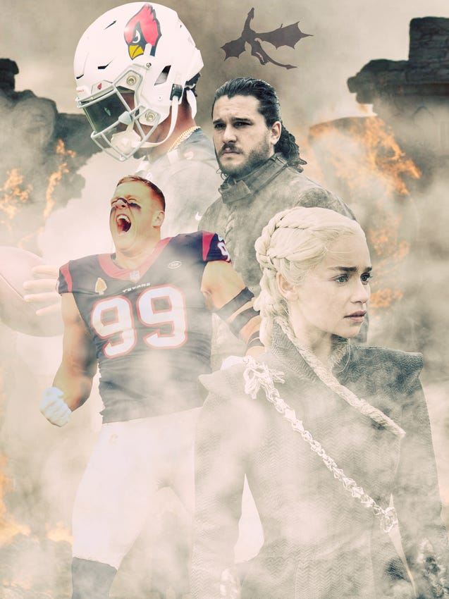 """""""Game of Thrones"""" meets the NFL."""