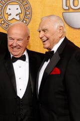Tim Conway, left, and his friend and 'McHale's Navy' co-star Ernest Borgnine appear together at the 17th annual Screen Actors Guild Awards in 2011.