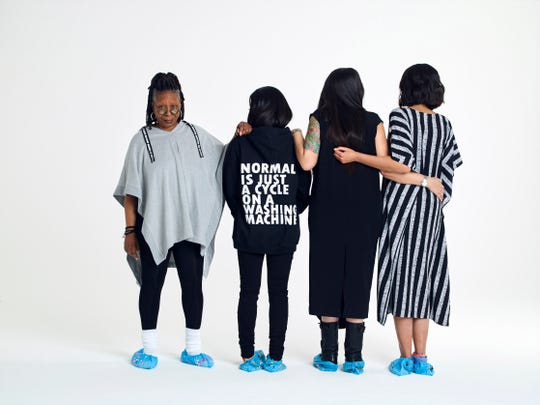 Whoopi Goldberg and models debut her new clothing collection, DUBGEE.