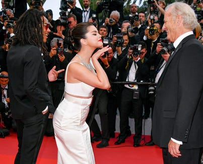 "Luka Sabbat, Selena Gomez and Bill Murray attend the opening ceremony and screening of ""The Dead Don't Die"" at Cannes Film Festival."