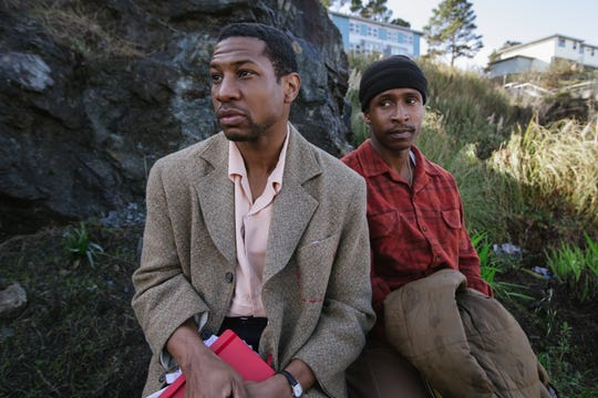 """Montgomery (Jonathan Majors, left) and Jimmie (Jimmie Fails) are two longtime friends wrestling with legacy, family and home in """"The Last Black Man in San Francisco."""""""