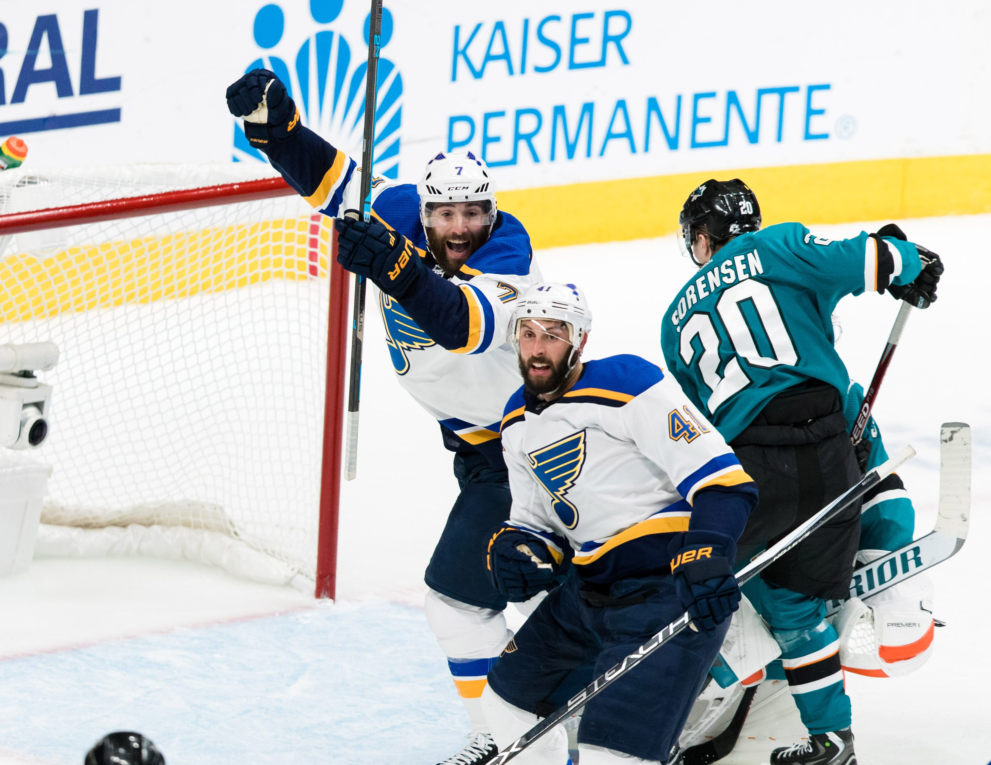 St. Louis Blues win Game 2 of Western Conference final, even up series vs. San Jose Sharks