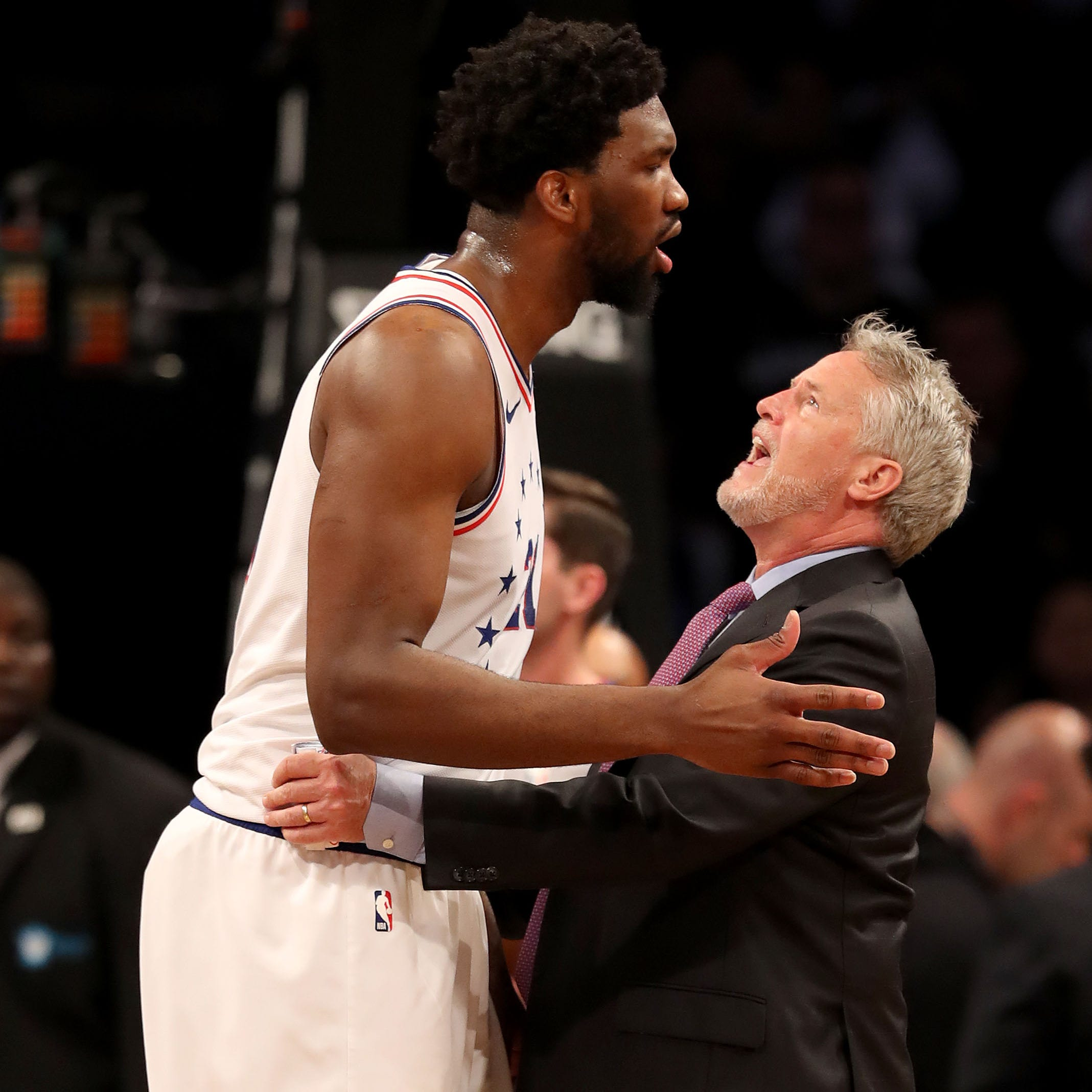 Joel Embiid defends 76ers coach Brett Brown amid 'BS' rumors
