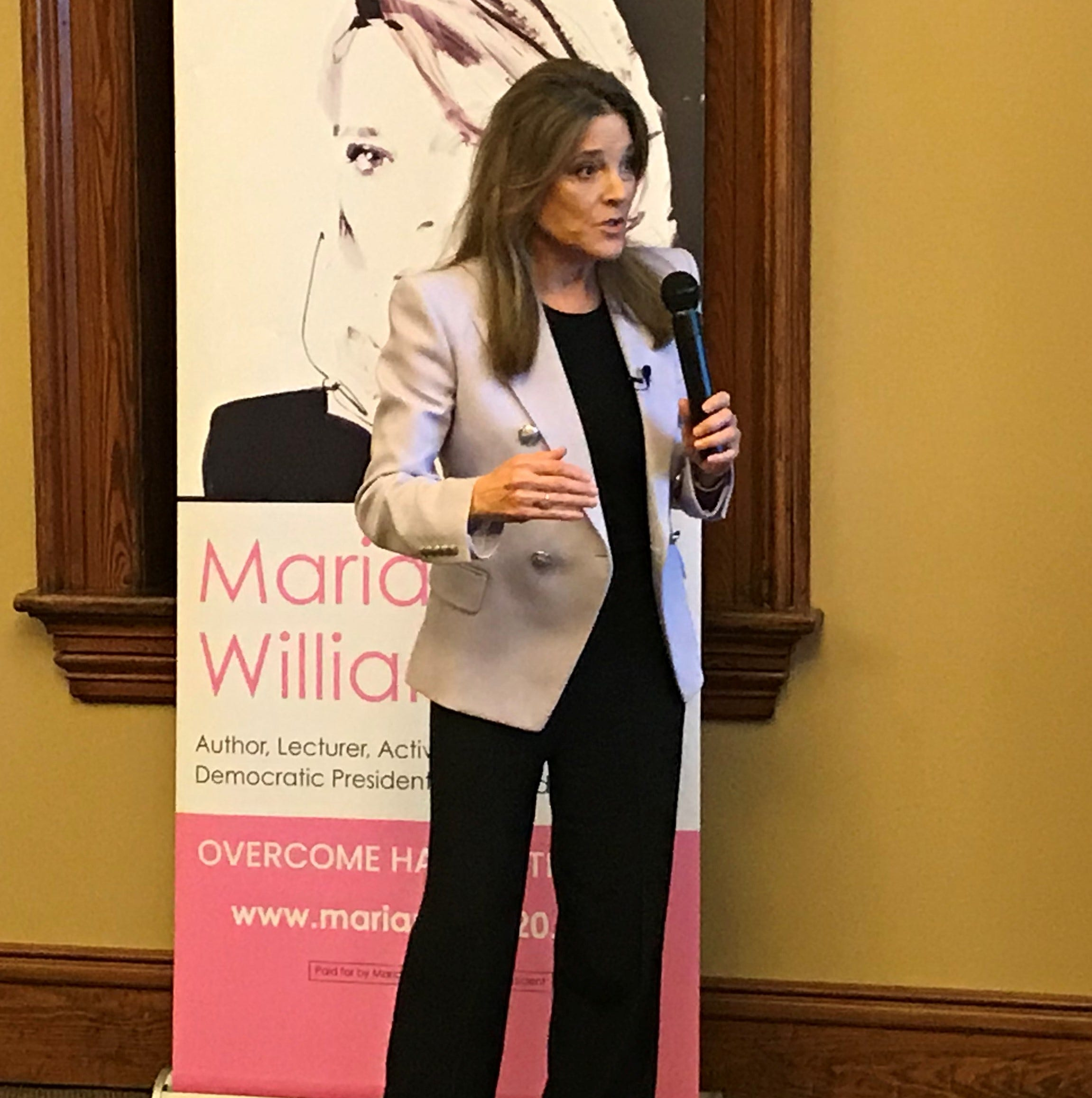 In SC, Oprah pal, presidential candidate Marianne Williamson calls for slave reparations