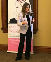 Democratic presidential candidate Marianne Williamson campaigned Tuesday night in Anderson.