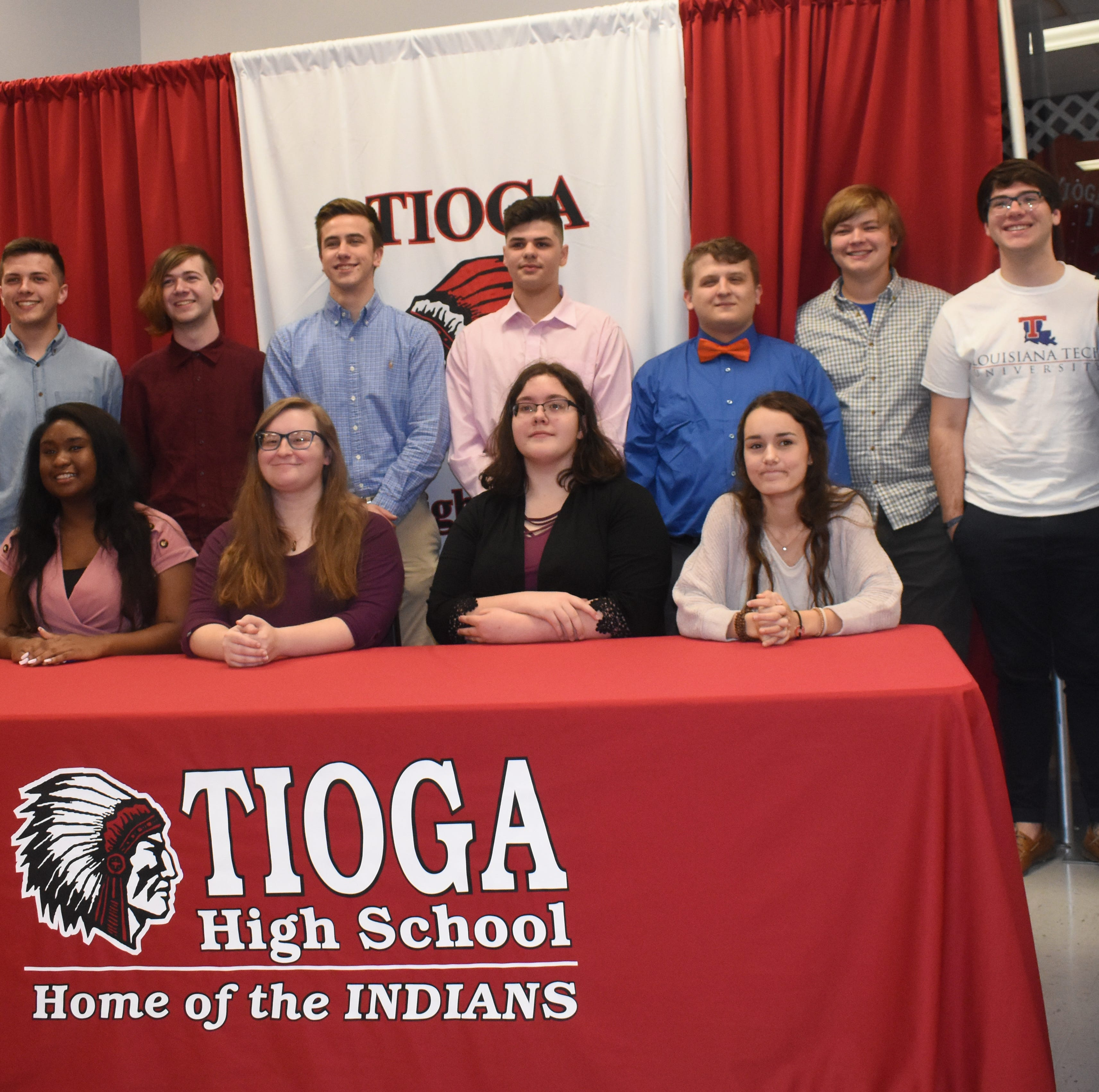 Tioga holds signing ceremony for 13 band students