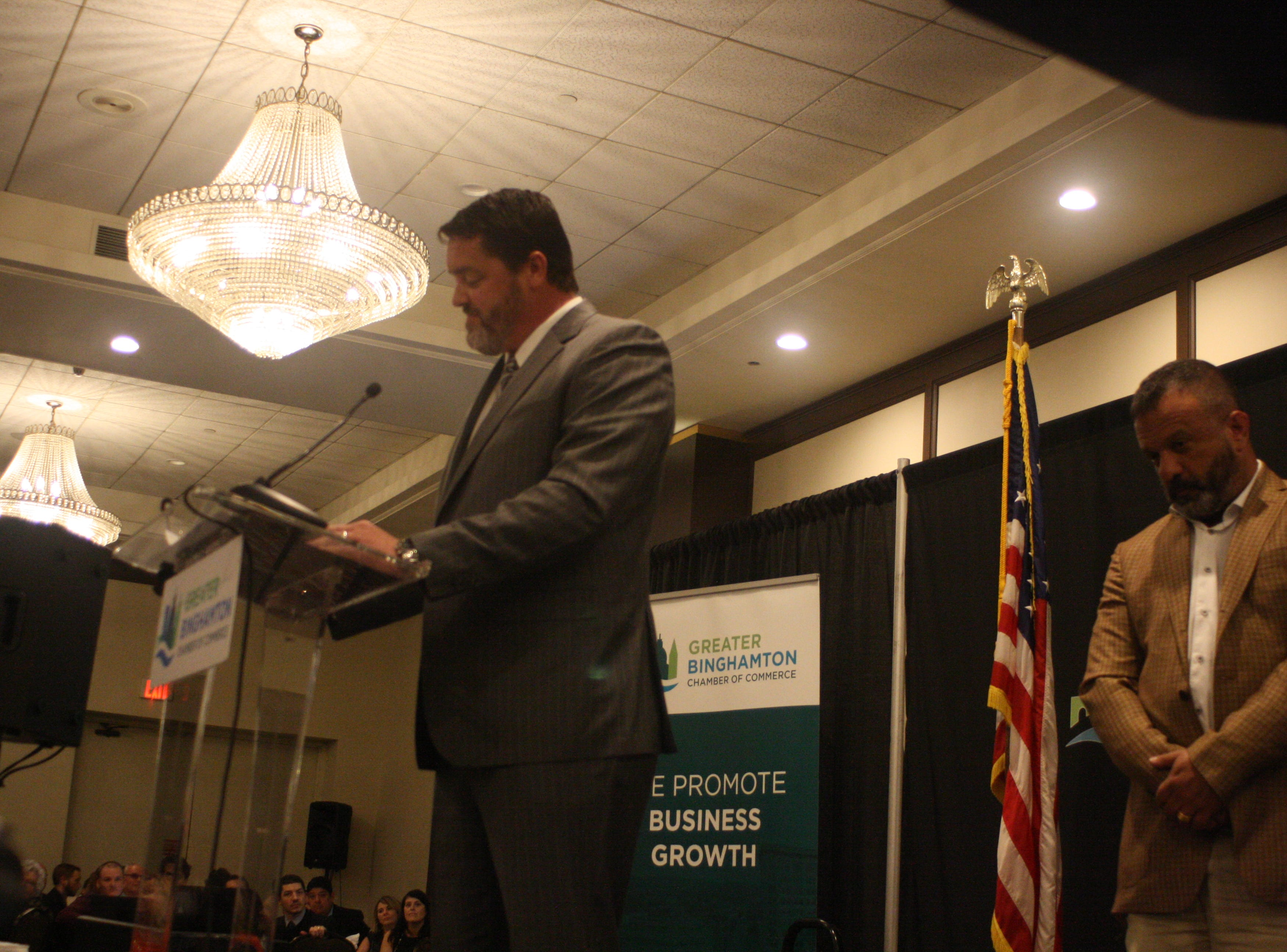 The Greater Binghamton Chamber of Commerce held its annual dinner and meeting Tuesday evening at the DoubleTree by Hilton in Downtown Binghamton.