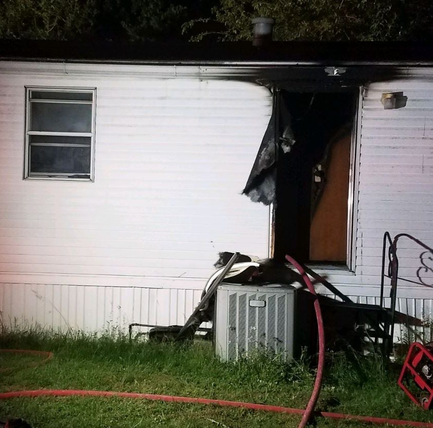 Evansville man accused of setting home on fire