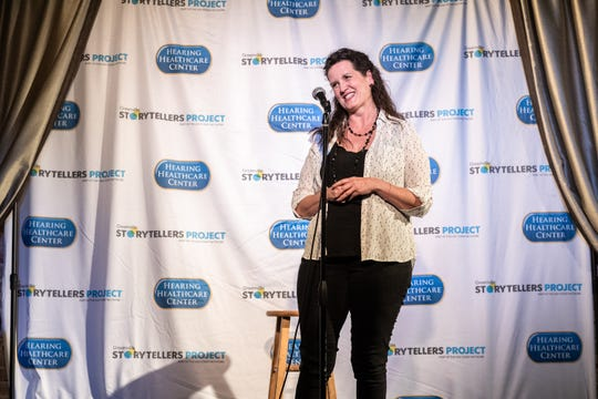 Kathryn Walsh, an attorney, at the Greenville Storytellers Project event at the Comedy Zone Tuesday, May 14, 2019.
