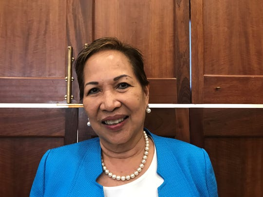 Fe Valencia-Ovalles is nominated to the Guam Economic Development Authority board by Governor Lou Leon Guerrero. She testified at her appointment's confirmation hearing on Wednesday, May 15.
