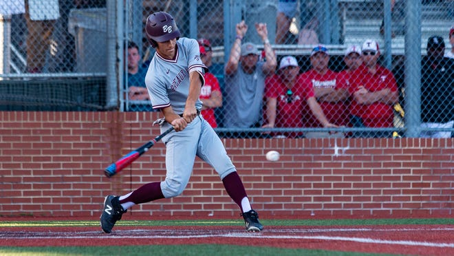 Keegan Cormier at the plate as Breaux Bridge falls to Tioga High School in the LHSAA Class 4A Championship Game. Tuesday, May 14, 2019.