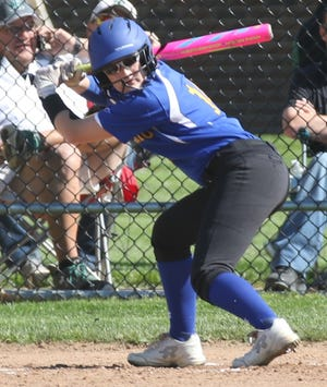 Ontario's Claire Henige brings a big bat back to the Lady Warriors' lineup.