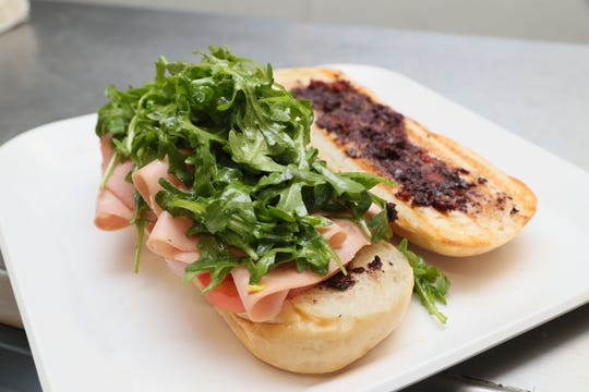The u'puarco sandwich can be made with mortadella (shown) or pancetta at Scardina Specialties, 822 E. Chambers St.