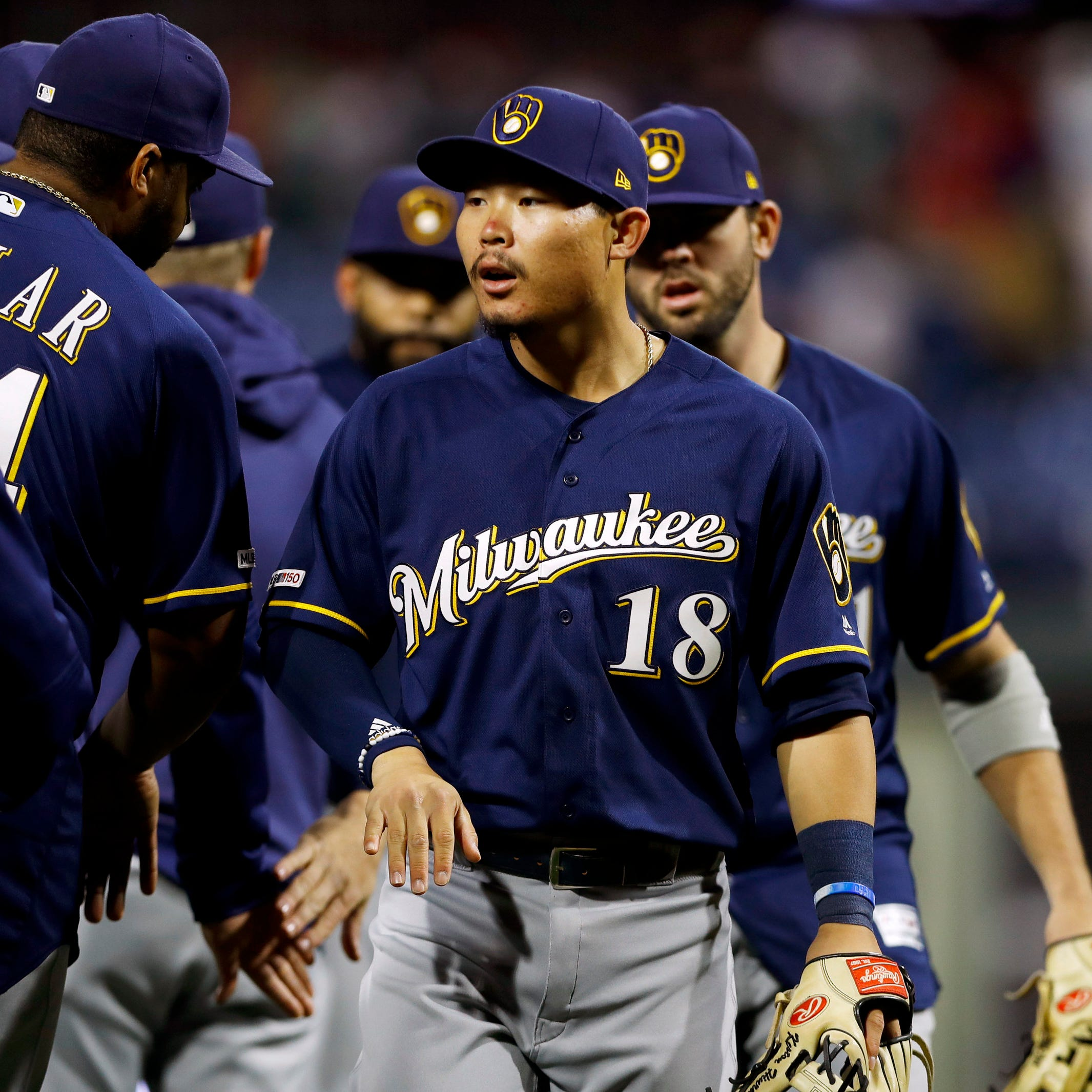 On a whirlwind day he never will forget, all's well that ends well for Brewers' Keston Hiura