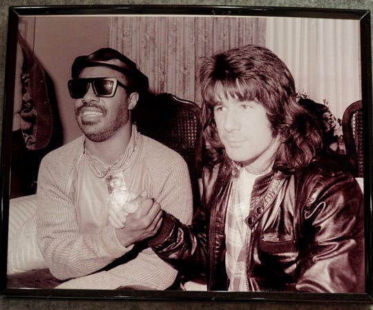 photo courtesty Rick Young -  Rick Young has met with Stevie Wonder a number of times over the decades.