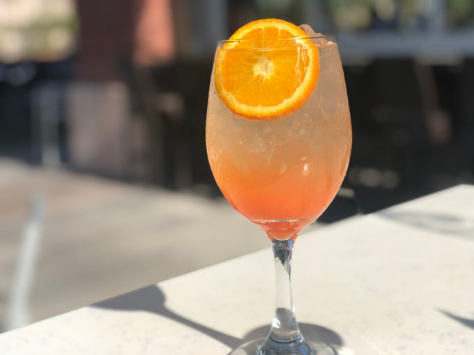 The Sicilian Butcher's Sicilian Spritz is made with Campari instead of Aperol.