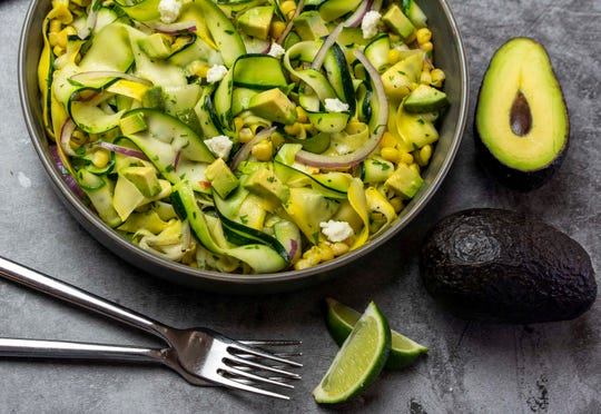 Robin Miller's Mexican Zucchini Ribbon Salad, one of the Easy Summer Squash Recipes.