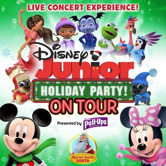DISNEY JUNIOR HOLIDAY PARTY ON TOUR - Key Art. (Disney Junior)
